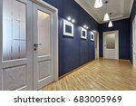 entrance hall  with a beautiful ... | Shutterstock . vector #683005969