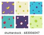 seamless fruit pattern...   Shutterstock .eps vector #683006047