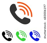 phone call vector pictograph.... | Shutterstock .eps vector #683006197