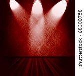 vintage room with spotlights | Shutterstock . vector #68300758