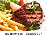Grilled Beef Steak With French...