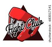 color vintage fight club emblem ... | Shutterstock . vector #683017141