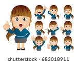 cute set   set of...   Shutterstock .eps vector #683018911