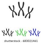 chromosomes vector pictograph.... | Shutterstock .eps vector #683021461