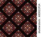 ethnic seamless pattern... | Shutterstock .eps vector #683021914