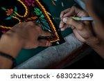 hands that make close work on... | Shutterstock . vector #683022349
