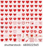 heart icons style vector... | Shutterstock .eps vector #683022565