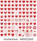 heart icons style vector... | Shutterstock .eps vector #683022565