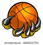 a monster or animal claw or... | Shutterstock .eps vector #683022751
