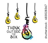 think outside the box  ... | Shutterstock .eps vector #683028367
