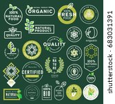 organic food and drink icons... | Shutterstock .eps vector #683031391