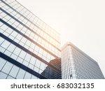 architecture details modern... | Shutterstock . vector #683032135