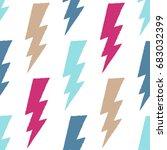 flash  lightning bolt seamless... | Shutterstock .eps vector #683032399