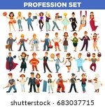 people professions and... | Shutterstock .eps vector #683037715