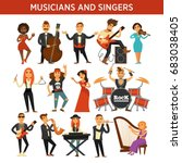 musicians rock  jazz and... | Shutterstock .eps vector #683038405