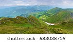 panorama of a valley among...   Shutterstock . vector #683038759