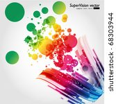 abstract background vector | Shutterstock .eps vector #68303944