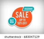 50  off sale banner  round... | Shutterstock .eps vector #683047129
