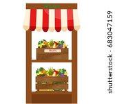 local fruits stall. fresh... | Shutterstock . vector #683047159
