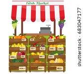 local fruits stall. fresh... | Shutterstock . vector #683047177