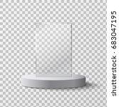 empty glass award isolated ... | Shutterstock .eps vector #683047195