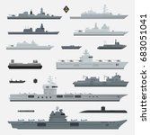 military weapons of navy... | Shutterstock .eps vector #683051041