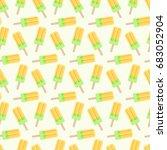 popsicle vector seamless... | Shutterstock .eps vector #683052904
