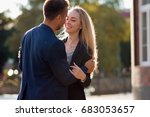 couple in love. portrait of... | Shutterstock . vector #683053657