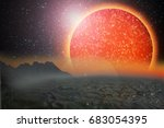 new galaxy  planetary systems   ... | Shutterstock . vector #683054395