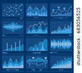 big data data analytics with... | Shutterstock .eps vector #683056525