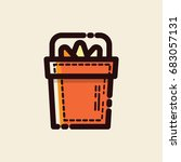 halloween candy bucket icon... | Shutterstock .eps vector #683057131