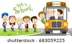 vector illustration of happy...   Shutterstock .eps vector #683059225