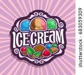 vector logo for ice cream  3...   Shutterstock .eps vector #683059309