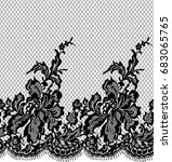 seamless vector black lace... | Shutterstock .eps vector #683065765