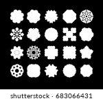 mandala lace snowflake. vector... | Shutterstock .eps vector #683066431
