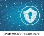 internet security online... | Shutterstock .eps vector #683067079