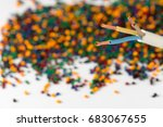 colorful plastic polymer... | Shutterstock . vector #683067655