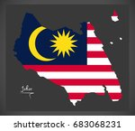 johor malaysia map with... | Shutterstock .eps vector #683068231