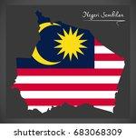 negeri sembilan malaysia map... | Shutterstock .eps vector #683068309