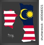 penang malaysia map with... | Shutterstock .eps vector #683068321