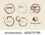 coffee stain badges | Shutterstock .eps vector #683074789