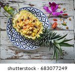 pineapple fried rice   a... | Shutterstock . vector #683077249