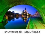 view of metz with temple neuf... | Shutterstock . vector #683078665