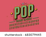 Vector Of Retro Colorful Font...