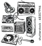 sketchy music elements vector... | Shutterstock .eps vector #68307946