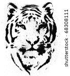 tiger stencil vector | Shutterstock .eps vector #68308111