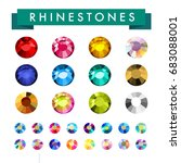 vector collection of shine... | Shutterstock .eps vector #683088001