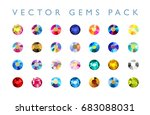 vector collection of shine... | Shutterstock .eps vector #683088031