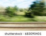 nature in motion from the train ...   Shutterstock . vector #683090401