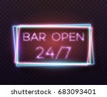 illustration of retro neon sign.... | Shutterstock . vector #683093401
